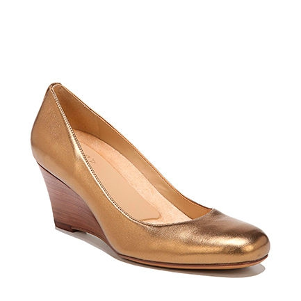 EMILY WEDGES IN GOLD METALLIC