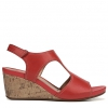 CINDA WEDGES IN RED