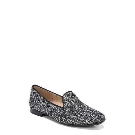 EMILINE 2 FLATS IN BLACK/WHITE TWEED