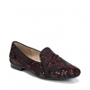 EMILINE 2 FLATS IN BORDO EMBROIDED