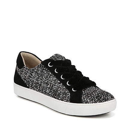 MORRISON CASUALS IN BLACK/WHITE TWEED