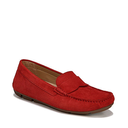 BRYNN CASUALS IN RED SUEDE