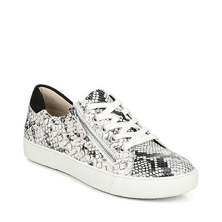 MACAYLA CASUALS IN BLACK/WHITE SNAKE