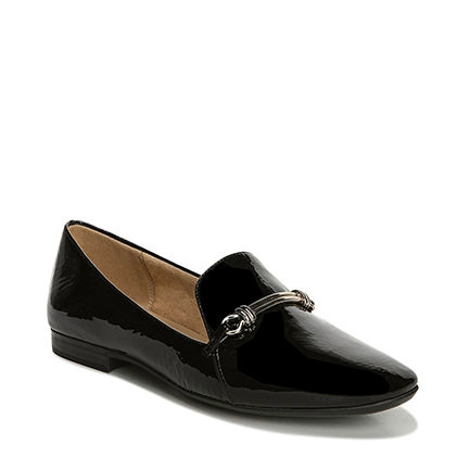 ENDEAR FLATS IN BLACK PATENT