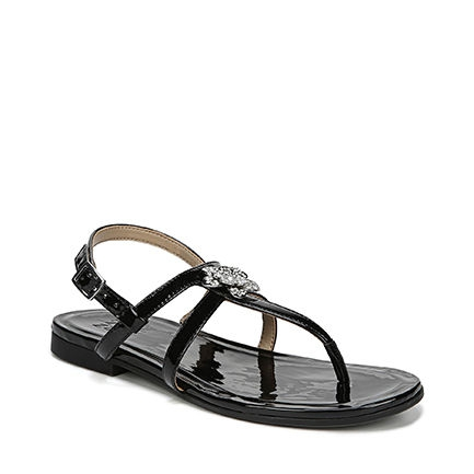 TILLY SANDALS IN BLACK PATENT