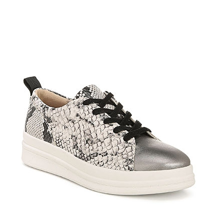 YARINA CASUALS IN BLACK/WHITE SNAKE