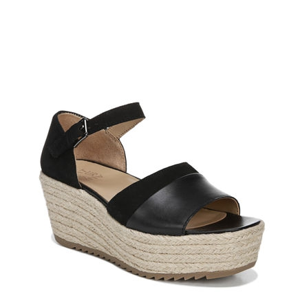 OPAL WEDGES IN BLACK