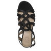 RAINE SANDALS IN BLACK SHIMMER