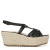 ODINA WEDGES IN BLACK SHIMMER