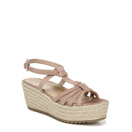 ODINA WEDGES IN GINGERSNAP SHIMMER