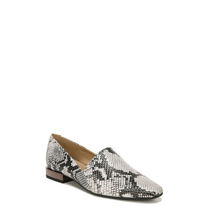 COLLETTE FLATS IN BLACK/WHITE SNAKE