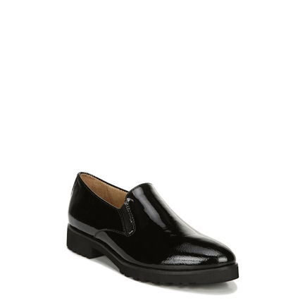 GERALDINE CASUALS IN BLACK PATENT