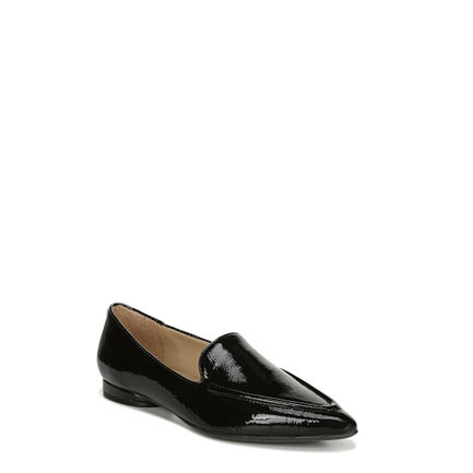 HAINES FLATS IN BLACK PATENT