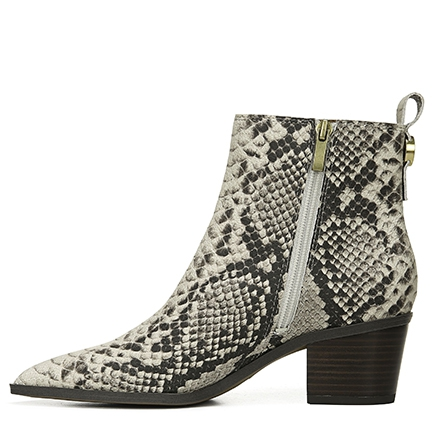 L-SHAY FRANCO SARTO IN BLACK/WHITE SNAKE
