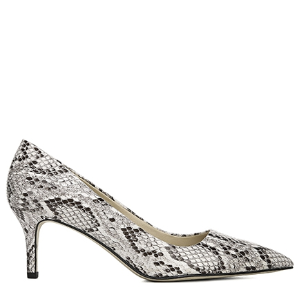 L-TUDOR FRANCO SARTO IN BLACK/WHITE SNAKE