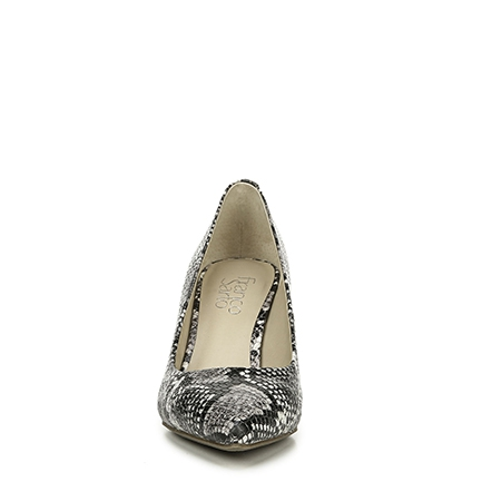 L-BELLINI FRANCO SARTO IN BLACK/WHITE SNAKE