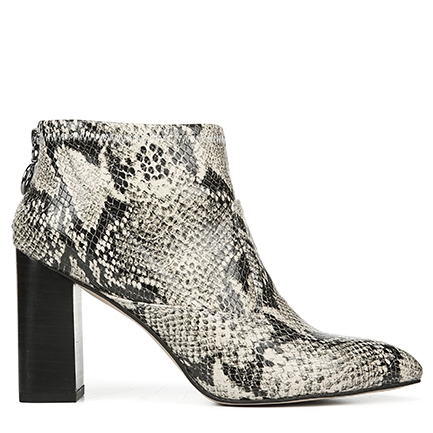 L-KORTNEY FRANCO SARTO IN BLACK/WHITE SNAKE