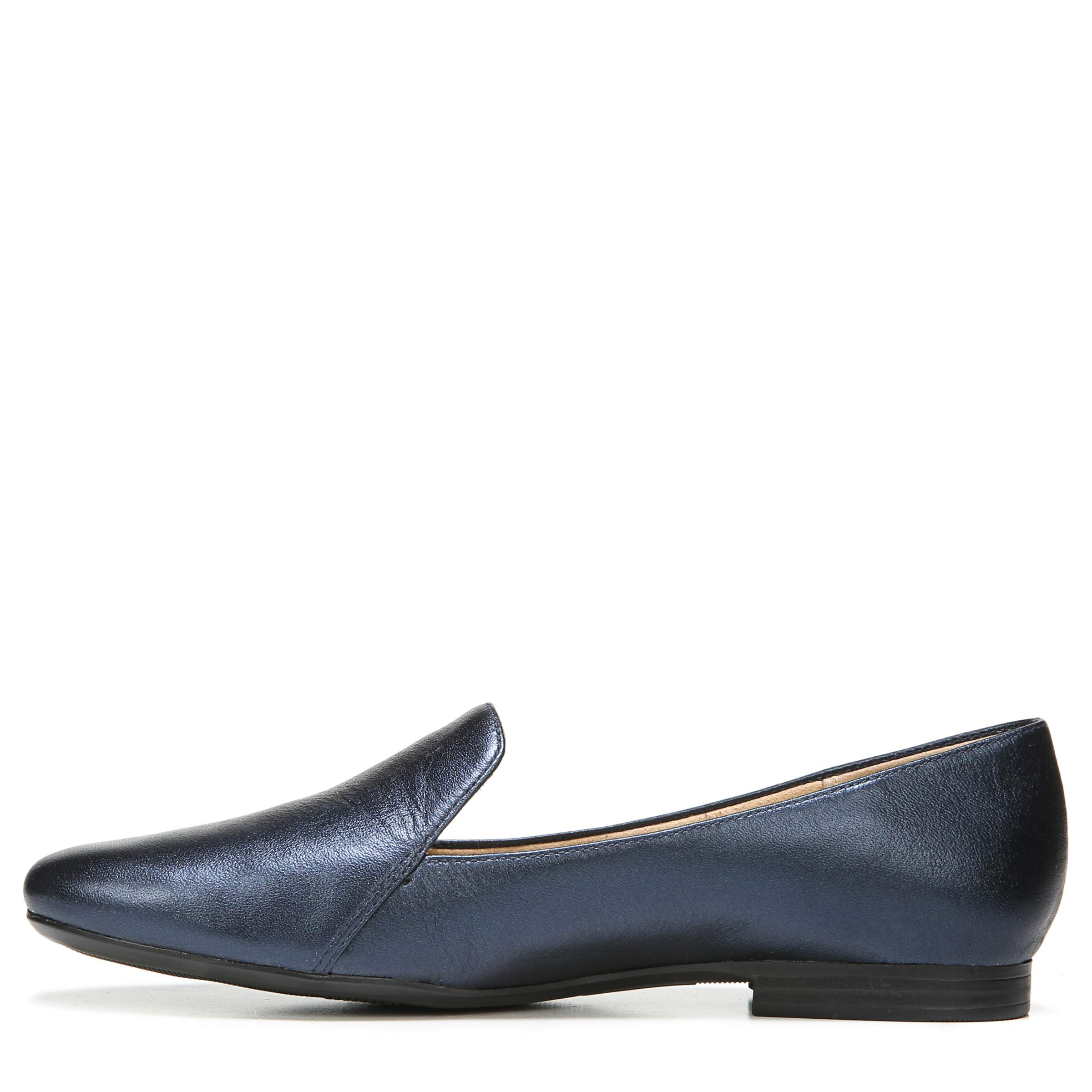 EMILINE FLATS IN INK NAVY METALLIC