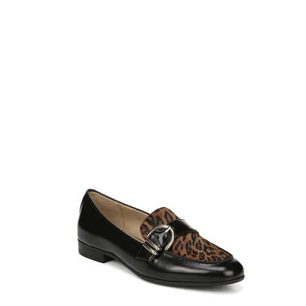 JANIE FLATS IN BLACK/CHEETAH