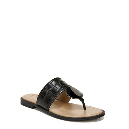 FRANKIE_ SANDALS IN BLACK CROCO