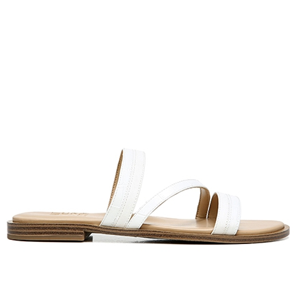 LILEY SANDALS IN WHITE CROC