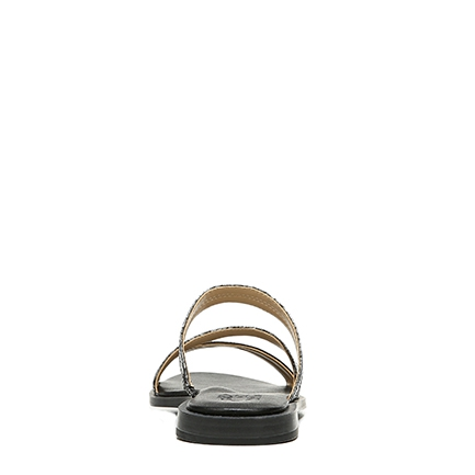 LILEY SANDALS IN BLACK MULTI SNAKE
