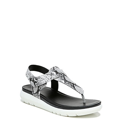 LINCOLN_ SANDALS IN BLACK/WHITE SNAKE