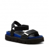 QIS  SANDALS IN BLACK/BLUE