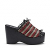 MACY SH  WEDGES IN BLACK MULTI