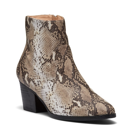 HOCHI  BOOTS IN NATURAL SNAKE