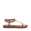 SACABA FLATS IN NUDE SNAKE