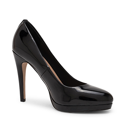 IINK PUMPS IN BLACK PATENT