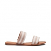 ROY  THONGS IN NATURAL STRIPE