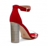 ZAINA  SANDALS IN CHERRY