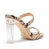 ZYLINA  SANDALS IN NATURAL SNAKE