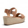 BREEZY WEDGES IN ALMOND