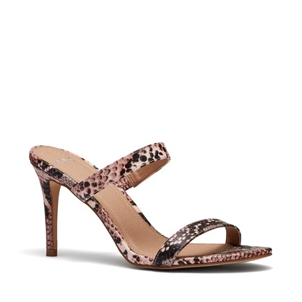 ELEMENTS  SANDALS IN BLUSH SNAKE