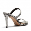 ELEMENTS  SANDALS IN BLACK/WHITE SNAKE