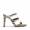 MAIA HEELS IN BLACK/WHITE SNAKE