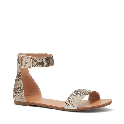 RYKER  SANDALS IN NATURAL SNAKE