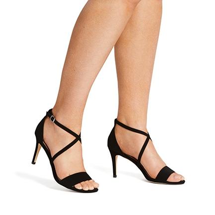 estella strappy  low heel  novo shoes