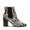 KENNA BOOTS IN BLACK/WHITE SNAKE