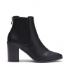 KENNA BOOTS IN BLACK SMOOTH