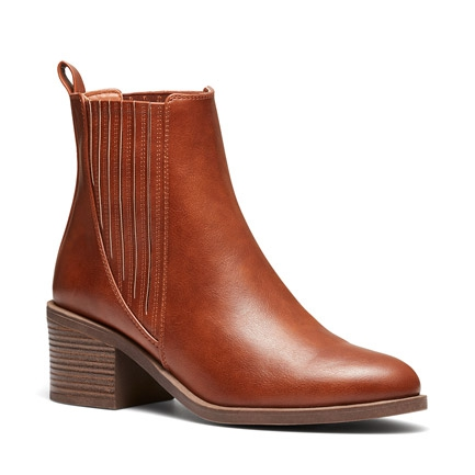 DISK BOOTS IN TAN