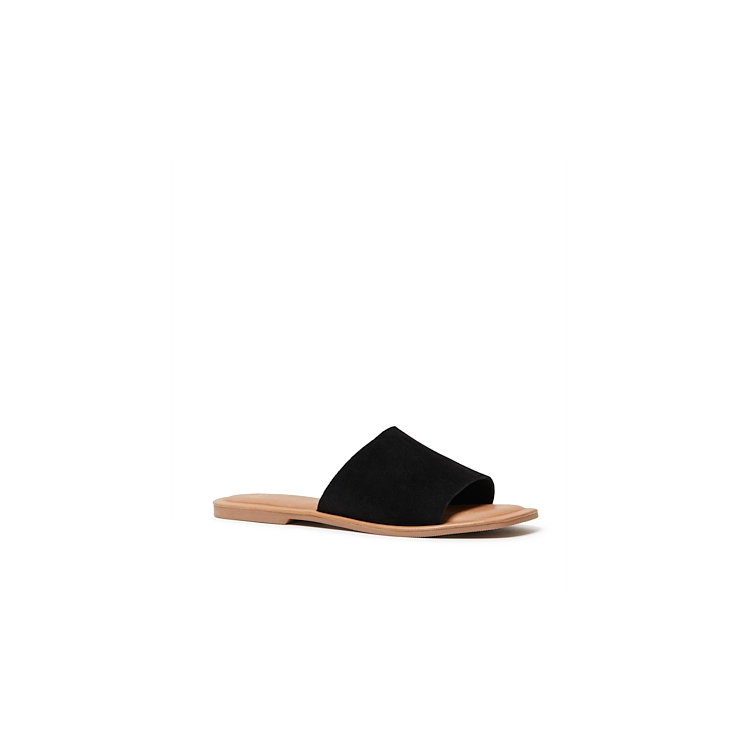 SQUEEZE SLIDES IN BLACK