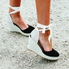 BENITO WEDGES IN BLACK