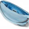 AWKWARD CROSS BODY BAG IN BLUE CROC