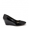 BOUNTY  WEDGES IN BLACK PATENT