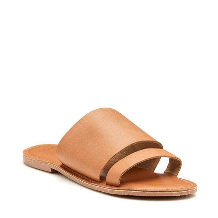 SAATCHI  THONGS IN TAN