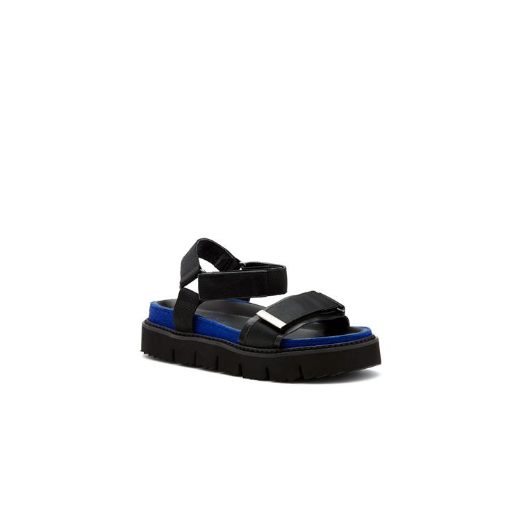 QIS  SANDALS IN BLACK/BLUE